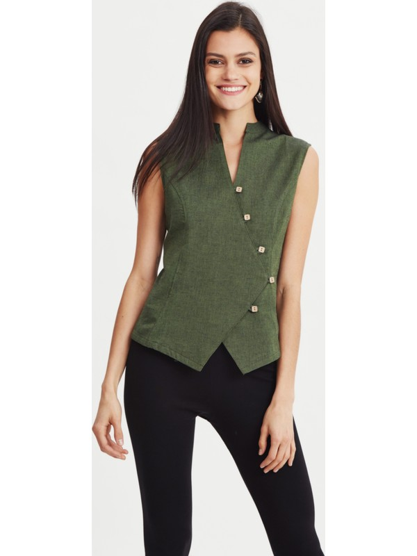 Los Banditos Kadın Yeşil Bahia Bluz B26