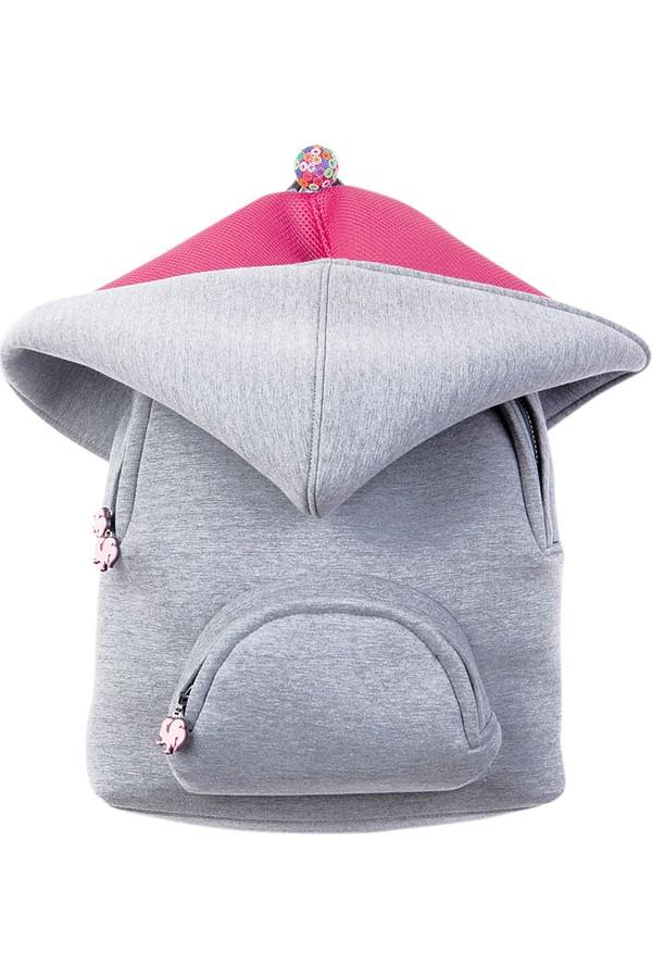 Morikukko Basic Gray & Pink Backpack