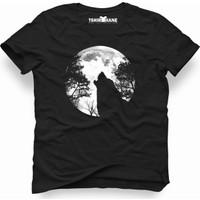 Tshirthane Wolf moon Erkek T-Shirt