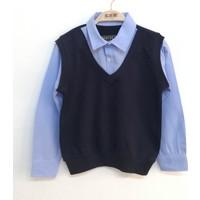 Toontoy Erkek Çocuk Gömlek Yaka Okul Sweatshirt