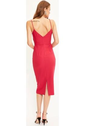 Defacto Kadın Askılı Gece Elbisesi