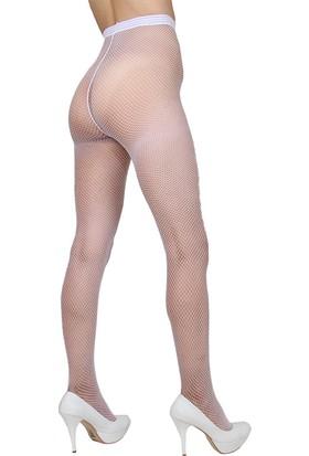 Mite Love File Külotlu Çorap Beyaz Renk