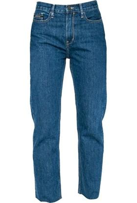 Calvin Klein J20J206580 Kadın Kot Pantolon Mavi
