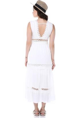Graffin Kadın 9014 Beyaz Elbise