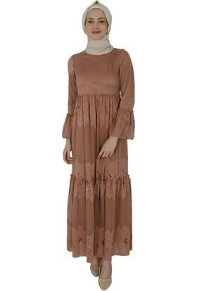Arda New Line Kadın Gül Kurusu Elbise 3508600-11.25