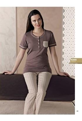 Obje Kadın Kapri Pijama Takımı