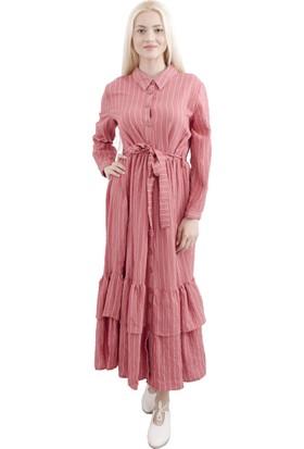 Arda New Line Kadın Gül Kurusu Elbise 9403218-10.25