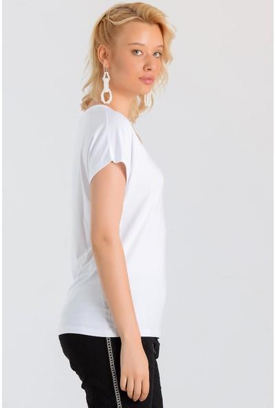 Pua Fashion Kadın İtalyan V Yaka Kolsuz Modal Bluz
