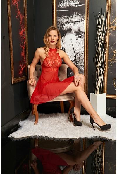 Real Passione Kadın Kırmızı Fantazi Gecelik