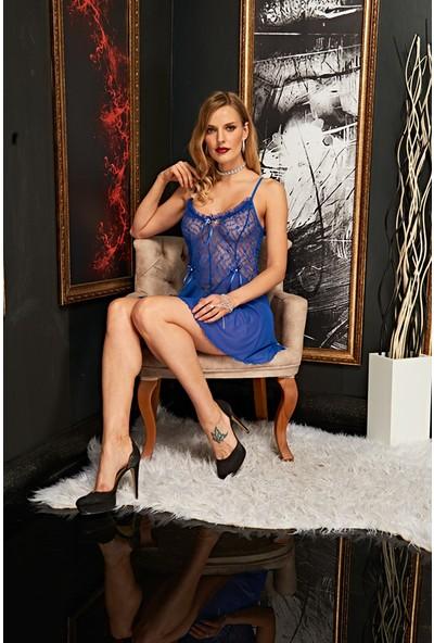 Real Passione Kadın Mavi Fantazi Gecelik