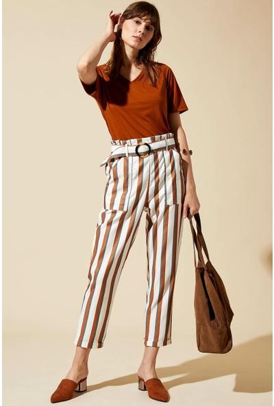 Defacto Kadın Kemerli Pantolon
