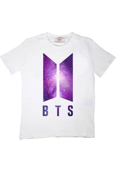 TakeTshirt Bts Galaxy Çocuk T-Shirt Beyaz Unisex
