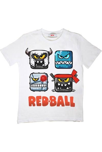 TakeTshirt Redball Çocuk T-Shirt Beyaz Unisex