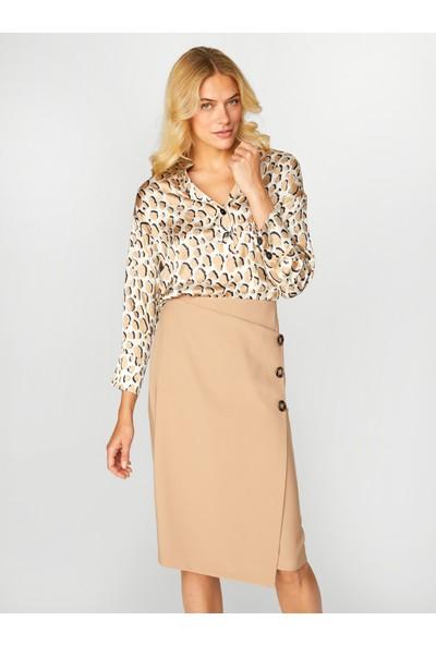 Faik Sönmez Kadın Desenli Bluz 39136