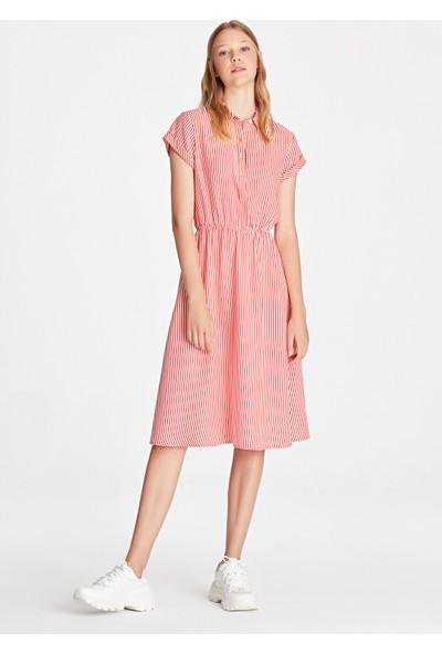 Kırmızı Çizgili Elbise 130793-29706