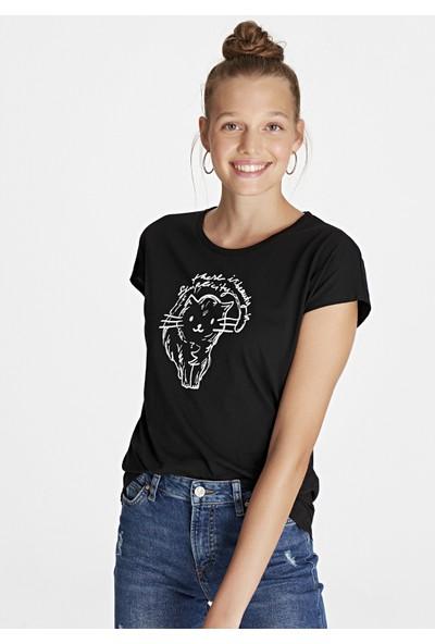 Mavi Kadın Simplicity Baskılı T-Shirt