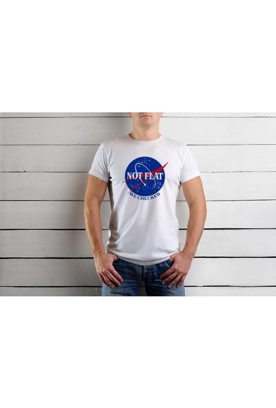 Tshirtadam Not Flat Beyaz Kısa Kollu T-Shirt