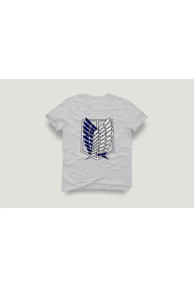 Tshirtadam Attack Of Titan Logo Beyaz Kısa Kollu T-Shirt