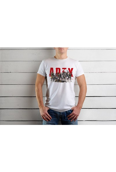 Tshirtadam Apex Legends Beyaz Kısa Kollu T-Shirt