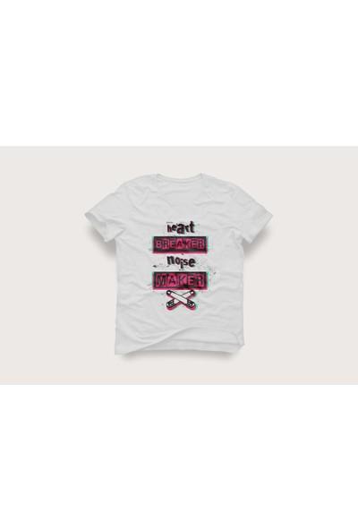 Tshirtadam Heart Breaker Beyaz Kısa Kollu T-Shirt