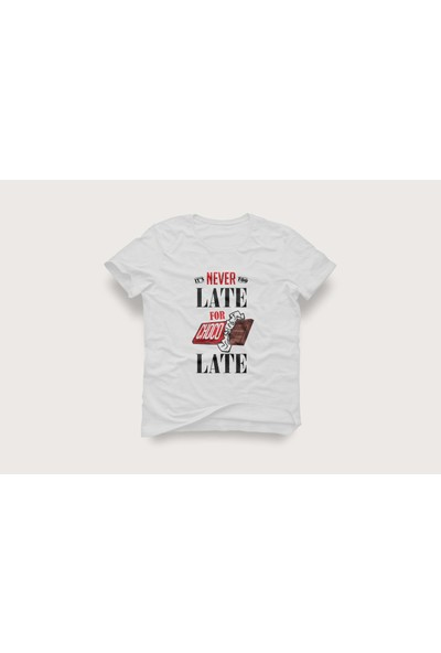 Tshirtadam Chocolate Beyaz Kısa Kollu T-Shirt