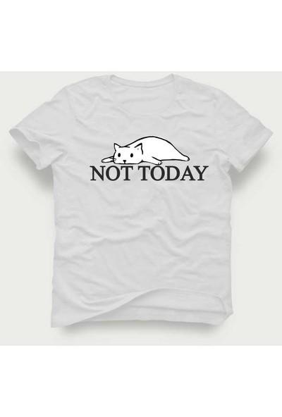 Tshirtadam Not Today Beyaz Kısa Kollu T-Shirt