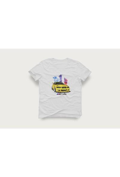 Tshirtadam Bmw Beyaz Kısa Kollu T-Shirt