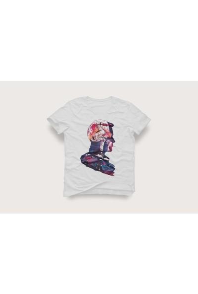 Tshirtadam Mustang Rüyası Beyaz Kısa Kollu T-Shirt
