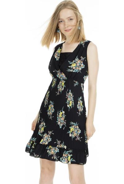 Ekol Çiçek Desenli Elbise Kadın Elbise 0234148