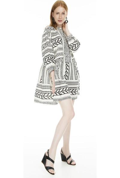 Vero Moda Desenli Truvakar Kol Vmdıcthe Kadın Elbise 10225142
