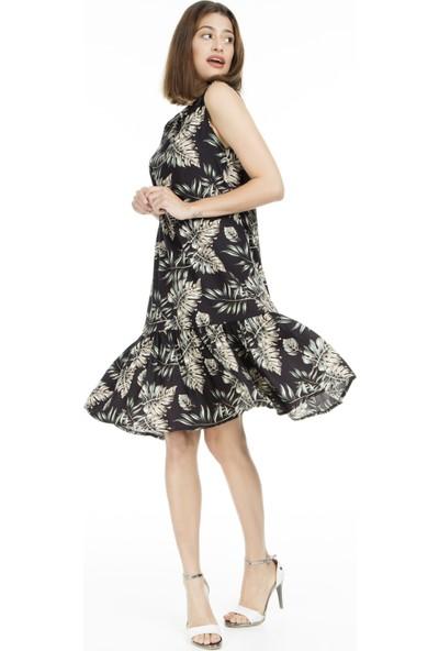 Lela Desenli Midi Kadın Elbise 5202755A