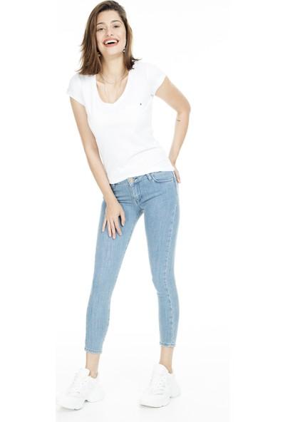 Lela Normal Bel Skinny Jeans Kadın Kot Pantolon 8507F3431Paula