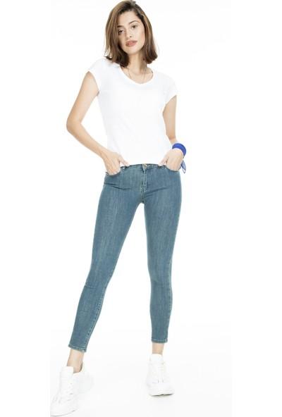 Lela Normal Bel Skinny Jeans Kadın Kot Pantolon 8507F3432Paula