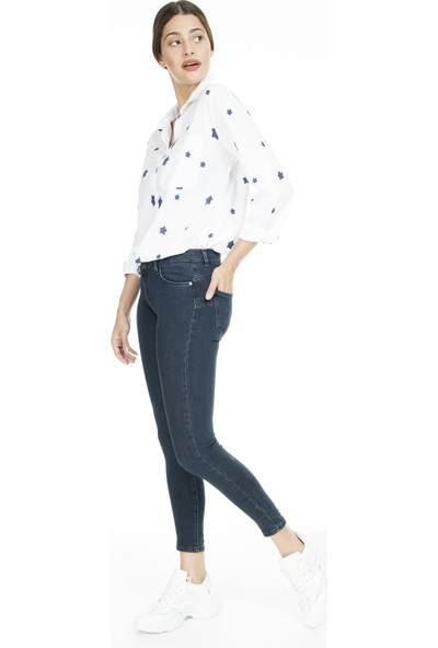Lela Normal Bel Skinny Jeans Kadın Kot Pantolon 8507F343Paula