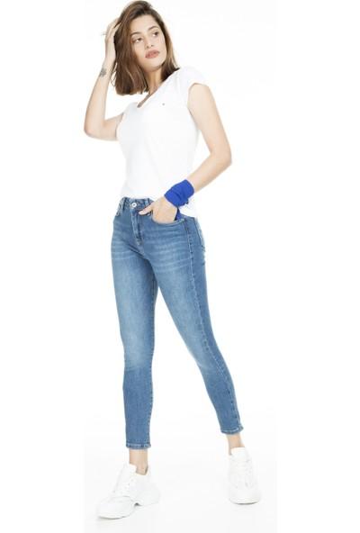 Lela Yüksek Bel Skinny Jeans Kadın Kot Pantolon 8523T744Martha