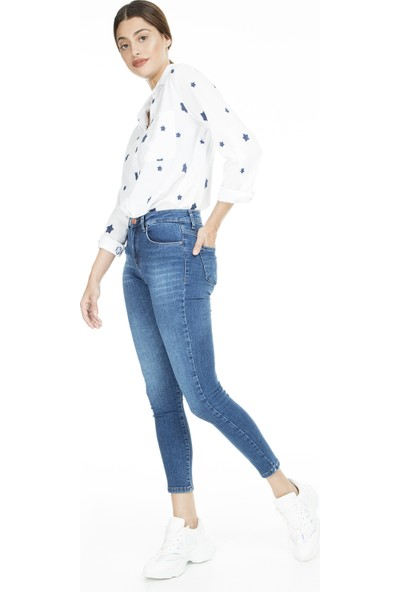 Lela Yüksek Bel Skinny Jeans Kadın Kot Pantolon 8523T745Martha