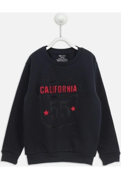 Modakids Koyu Lacivert Kışlık Erkek Çocuk Sweatshirt 019-1728-042