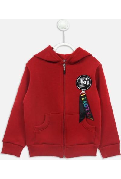 Modakids Kırmızı Kışlık Kız Çocuk Ceket
