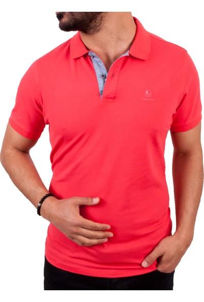 MCL Nar Çiçeği Polo Yaka Erkek T-Shirt