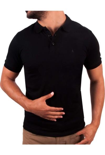 Blue Sail Siyah Renk Polo Yaka Erkek T-Shirt