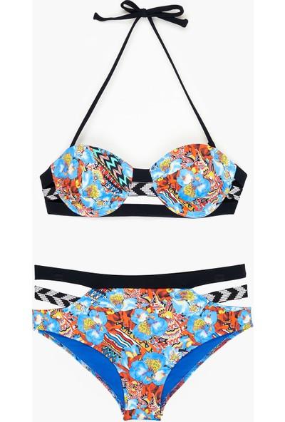 Bonesta Swimwear Kadın Çiçek Desenli Bikini