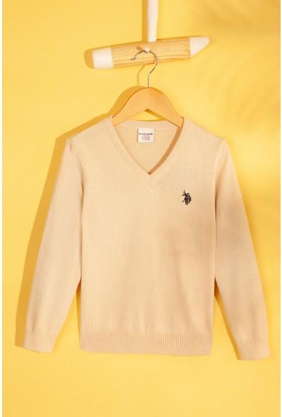 U.S. Polo Assn. Kız Çocuk Triko Kazak 50213275-Vr071