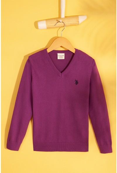 U.S. Polo Assn. Kız Çocuk Triko Kazak 50213275-Vr037