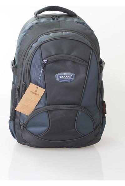 Cakard 15.6 Inc Laptop Bölmeli Sırt Çantası 4018-3 Lacivert