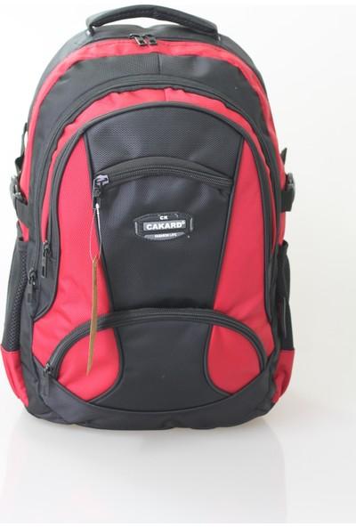 Cakard 15.6 Inc Laptop Bölmeli Sırt Çantası 4018-2 Kırmızı