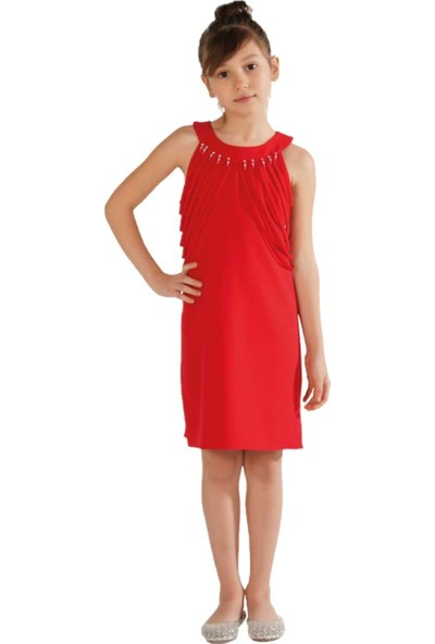 Zekids Kız Çocuk Detaylı Elbise Lacivert - 8 Yaş