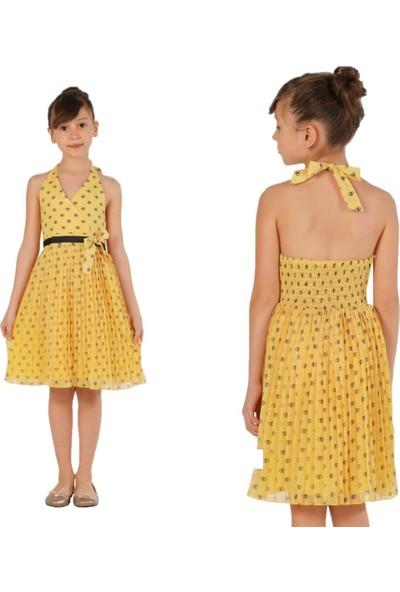 Zekids Kız Çocuk Elbise Sarı - 12 Yaş