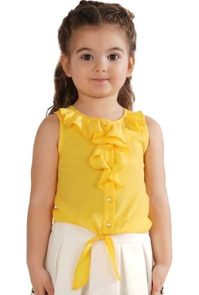 Zekids Kız Çocuk Fırfırlı Gömlek Pembe - 3 Yaş