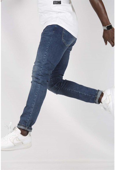 Gotica Mavi Erkek Pantolon Slim Fit Likralı