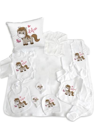 İncili Baby Horse Tasarımlı Hastane Çıkışı 11'li Set